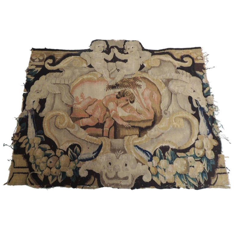 18th Century Antique Verdure Tapestry Panel