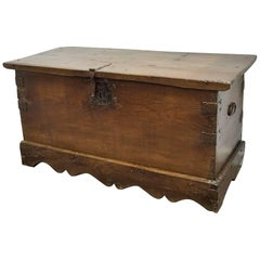 Spanish 19th Century Wood Coffer or Trunk