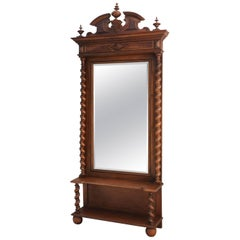 French Dressing Mirror 19th Century Louis Barley Twist