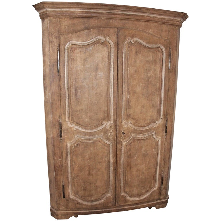Exceptional French Oak Corner Cabinet