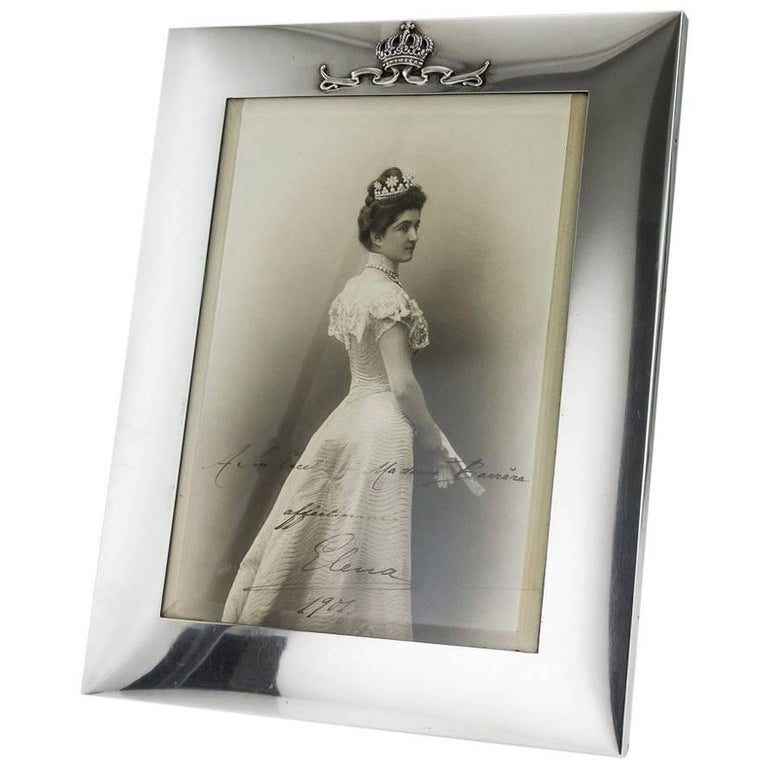 Antique 20th Century Italian Royal Solid Silver Photo Frame, Musy circa 1900