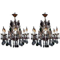 Pair of 20th Century Italian Chandeliers