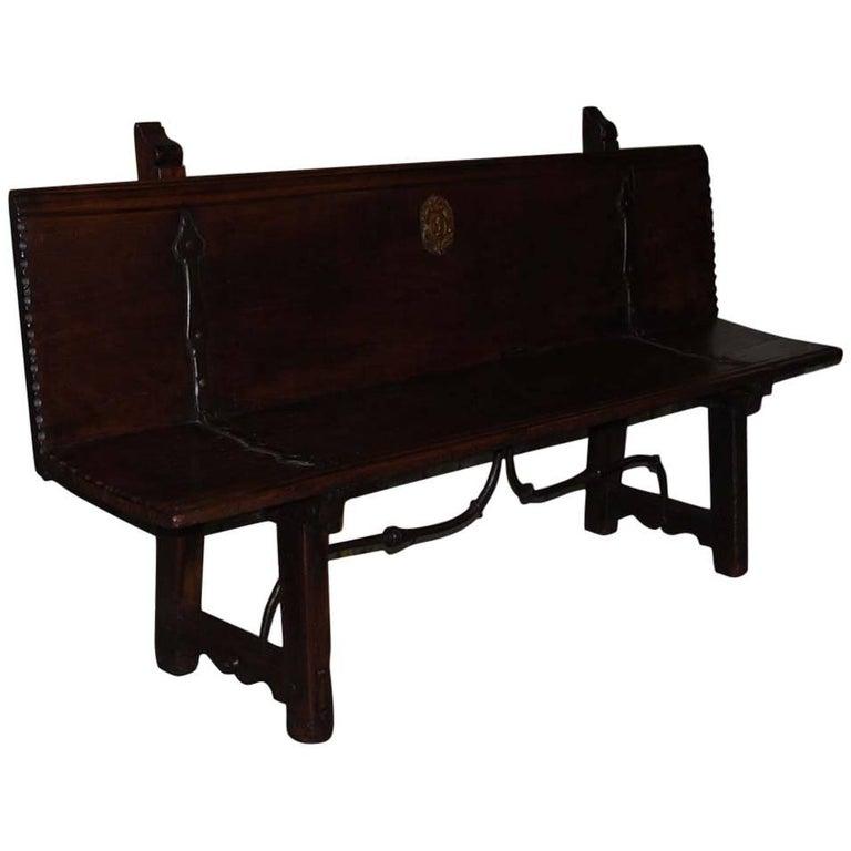 17th Century Spanish Hall Bench