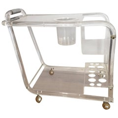 Midcentury Lucite Bar Cart