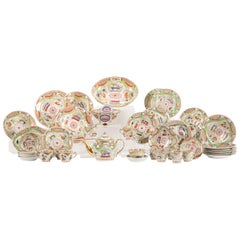 Large Matched Collection of Dragons in Compartments Coalport Porcelain