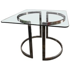 Milo Baughman Chrome and Glass Table or Desk