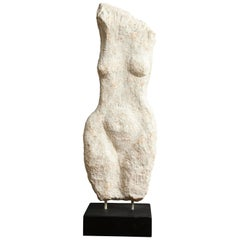 Modernist Stone Sculpture of a Female Nude Torso