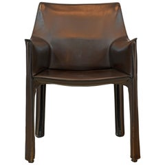 Iconic Mario Bellini Design Leather Dining or Work Chair by Cassina, Italy