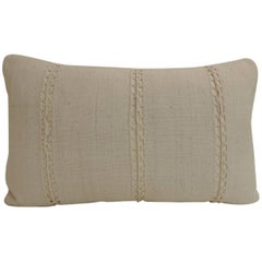 Antique Beige French Linen Lumbar Decorative Pillow