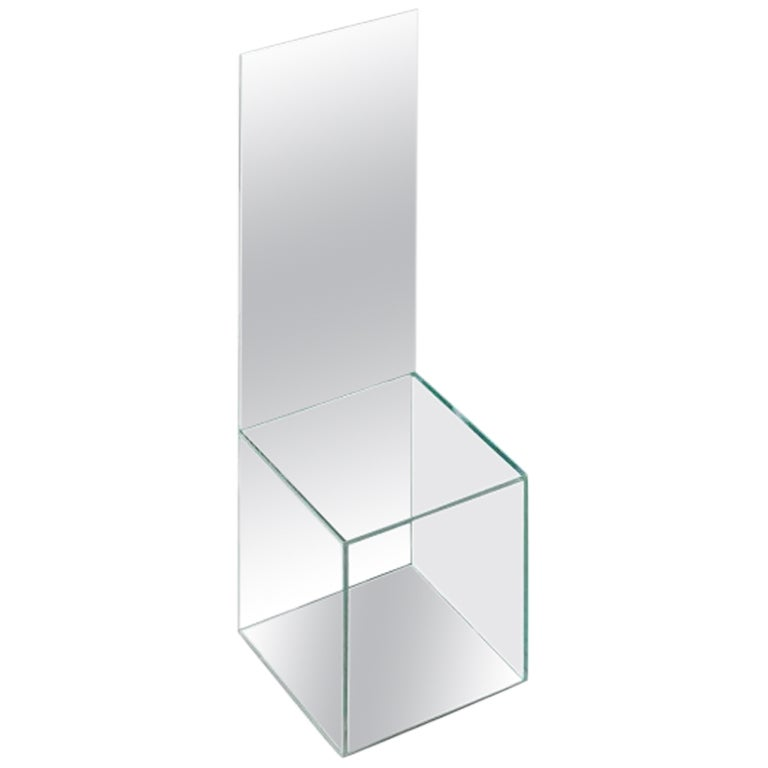 High Backed Glass Mirrored Chair by Guillermo Santomá Barcelona Contemporary