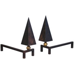 Pair of Andirons by Jean Royere, circa 1950, France