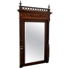 Victorian Mahogany Pier Mirror, circa 1840