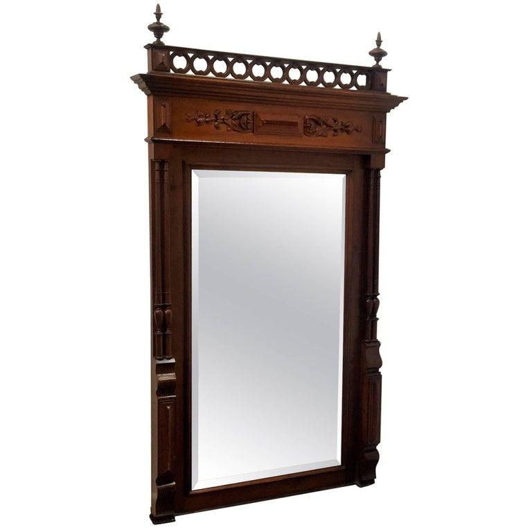 Victorian Mahogany Pier Mirror, circa 1840 For Sale