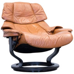 Stressless Designer Chair Leather Ocre Brown Relax Function Couch Modern