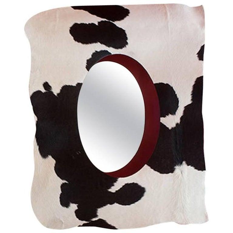 """Vaca Pelosa"" Mirror Designed by Nestor Perkal for Oscar Maschera For Sale"