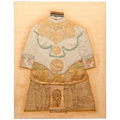Tapestry by Helene Killion of Ceremonial Robe with Antique Fabrics