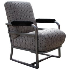 Art Deco Machine Age Tubular Aluminum Railroad Train Lounge Chair