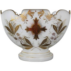Wedding Cup in Opaline Glass Gilded with Fine Gold