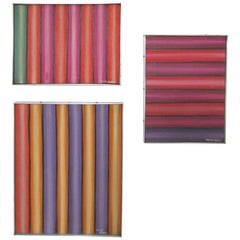 Trio of Color Field Paintings by New York Artist Henry Kallem, circa 1960s