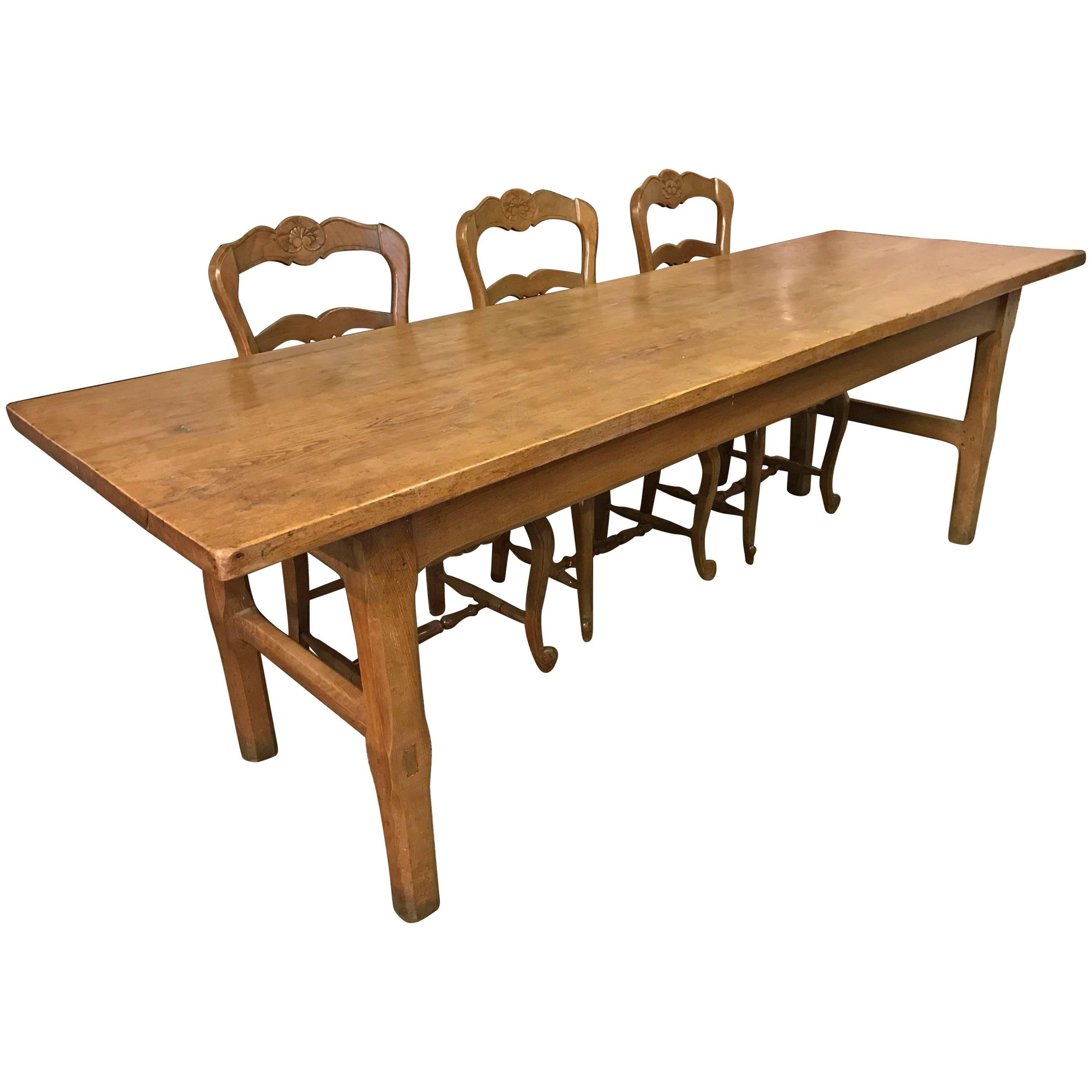 Ash French Farmhouse Table, Circa 1840