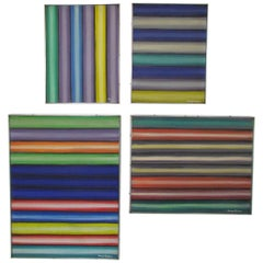 Grouping of Four Color Field Paintings by New York Artist Henry Kallem