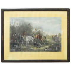 19th Century English Fox Hunt by Francis Grant Hand-Colored Engraving