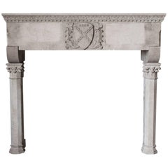 Gothic Mantel Carved in Sandstone