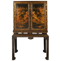 18th Century Lacquer Cabinet on Stand