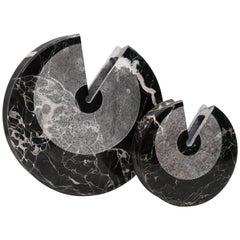 """""""Eccentrico"""" Black Marble Vases by Egidio Di Rosa & PA Giusti for Up & Up, 1972"""