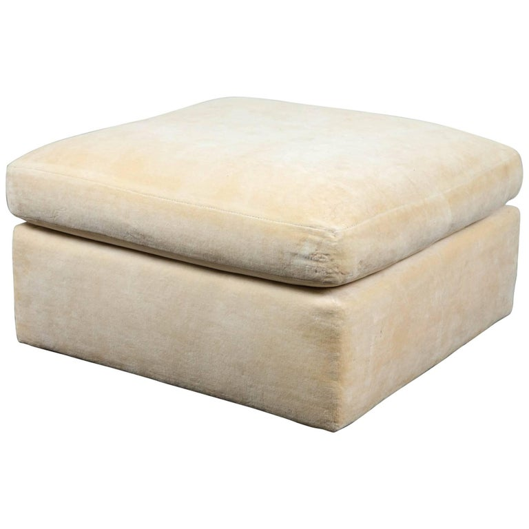 Magnificent Thayer Coggin Large Square Ottoman Theyellowbook Wood Chair Design Ideas Theyellowbookinfo