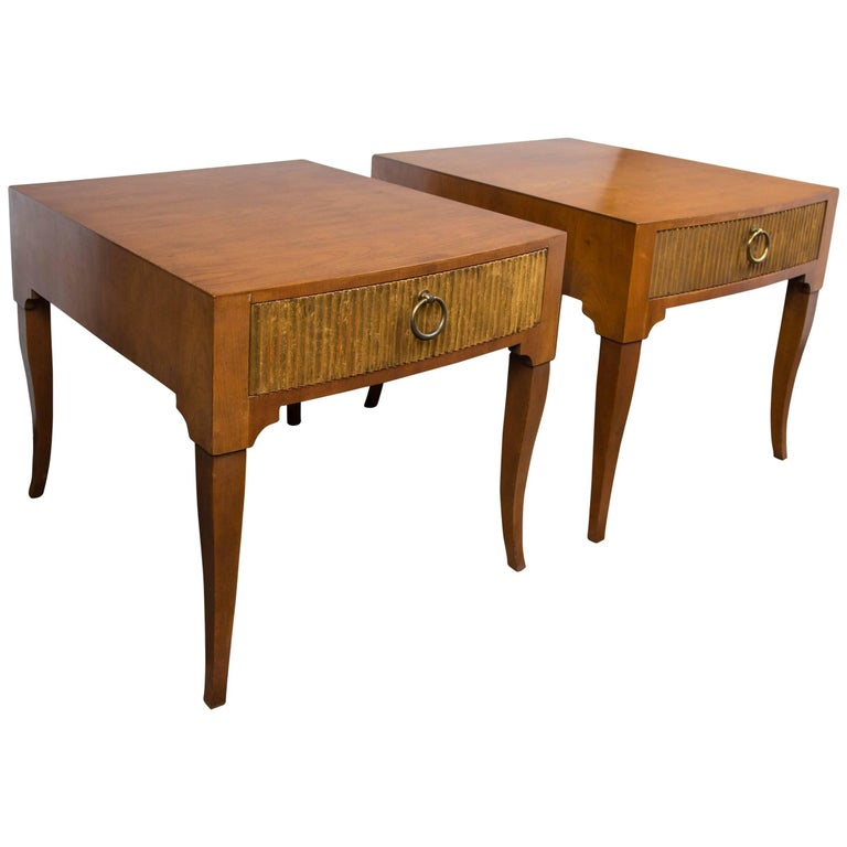 Mid-Century Modern End Tables by Baker For Sale