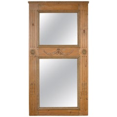 Large Pine Mirror with Wonderful Design Forms
