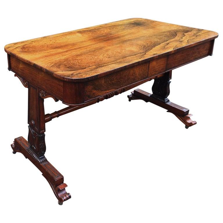 Regency period rosewood writing table