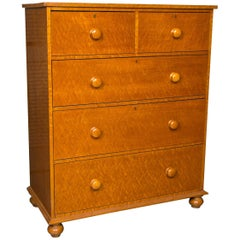 Beautiful Bird's-Eye Maple Chest of Drawers