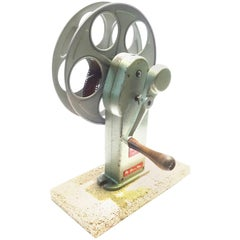 Cinema Movie Professional Film Rewind With Reel, circa Mid Century as Sculpture