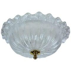 """Italian Murano Glass """"Cupcake"""" Ceiling Light"""