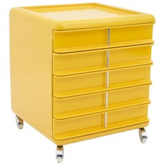 Yellow Office Pedestal from the 1970s
