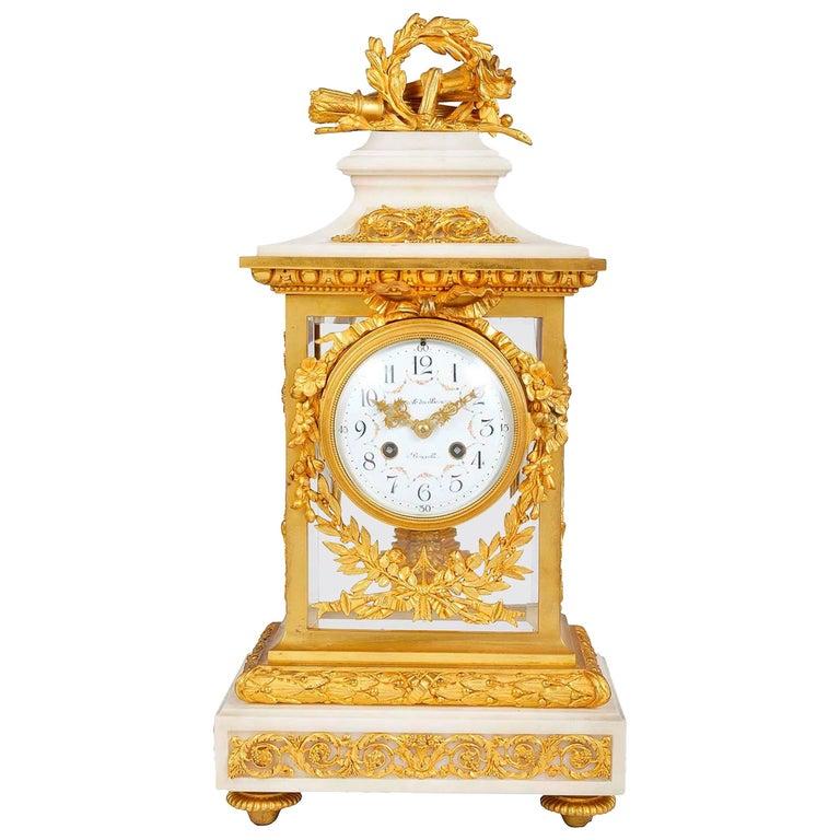 19th Century Louis XVI Style Mantel Clock For Sale