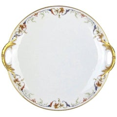 Antique French Porcelain Cake Plate from Haviland & Co., Limoges