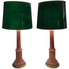 Pair of Large Swedish Josef Frank Opaline Table Lamps Svenskt Tenn Model 2583