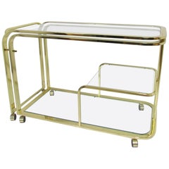 Milo Baughman Expandable Bar Cart for Design Institute America 'DIA'