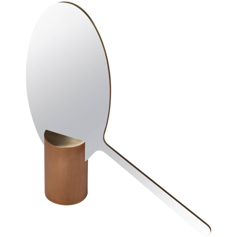 Ashkal Small Mirror 'Round Model' by Richard Yasmine