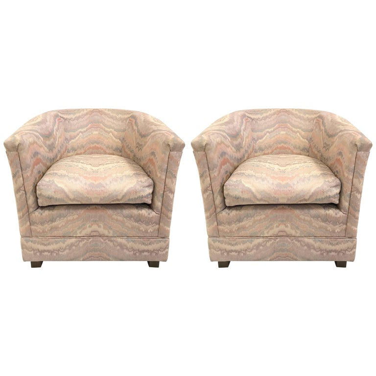 Pair of 1970s Club Chairs For Sale