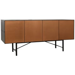 Connect Credenza Cabinet or Sideboard in Copper Bronze and Steel Patina