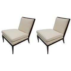 1950 Robsjohn Gibbings for Widdicomb Furniture Pair of Slipper Chairs