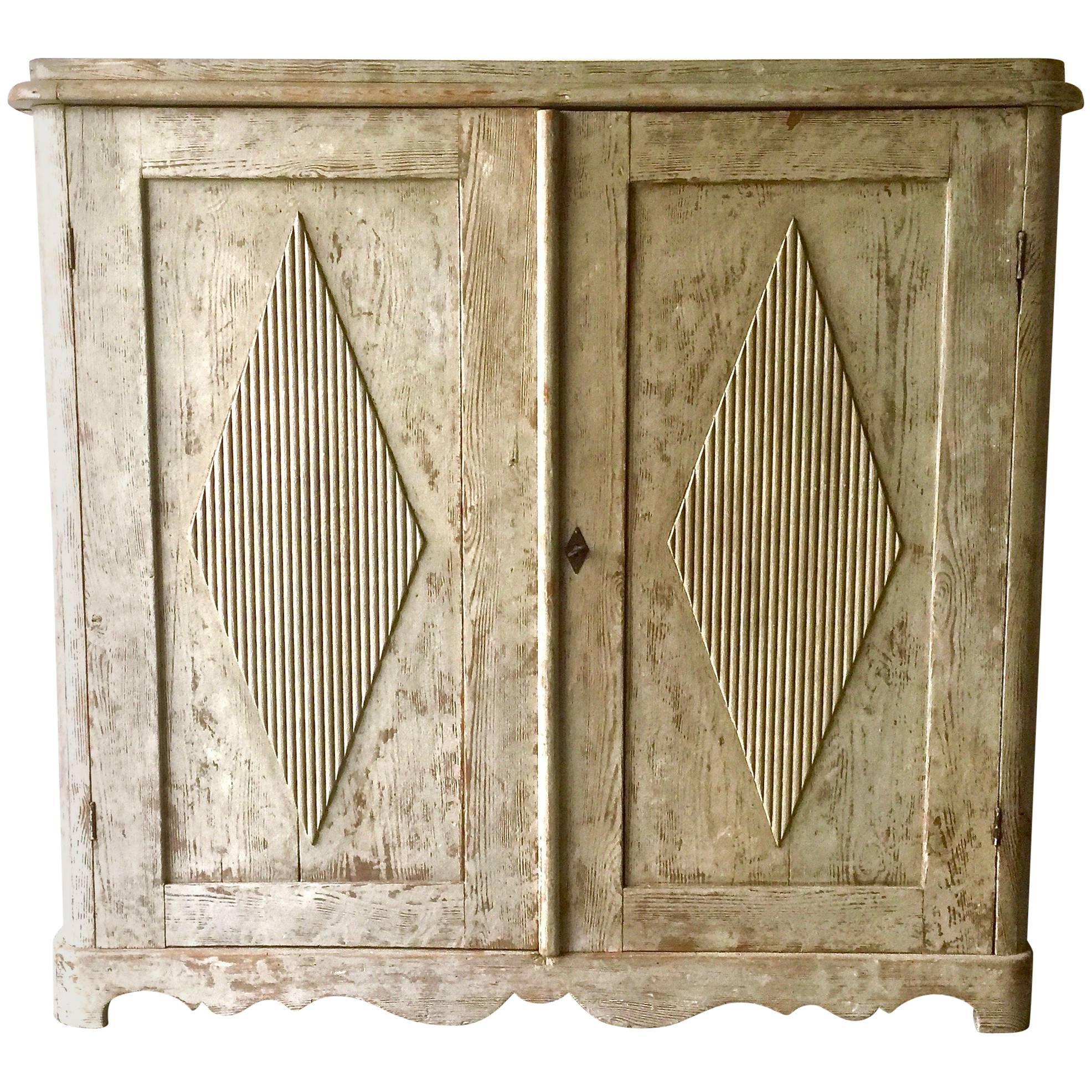 swedish late gustavian antique fourdoor glass vitrine cabine