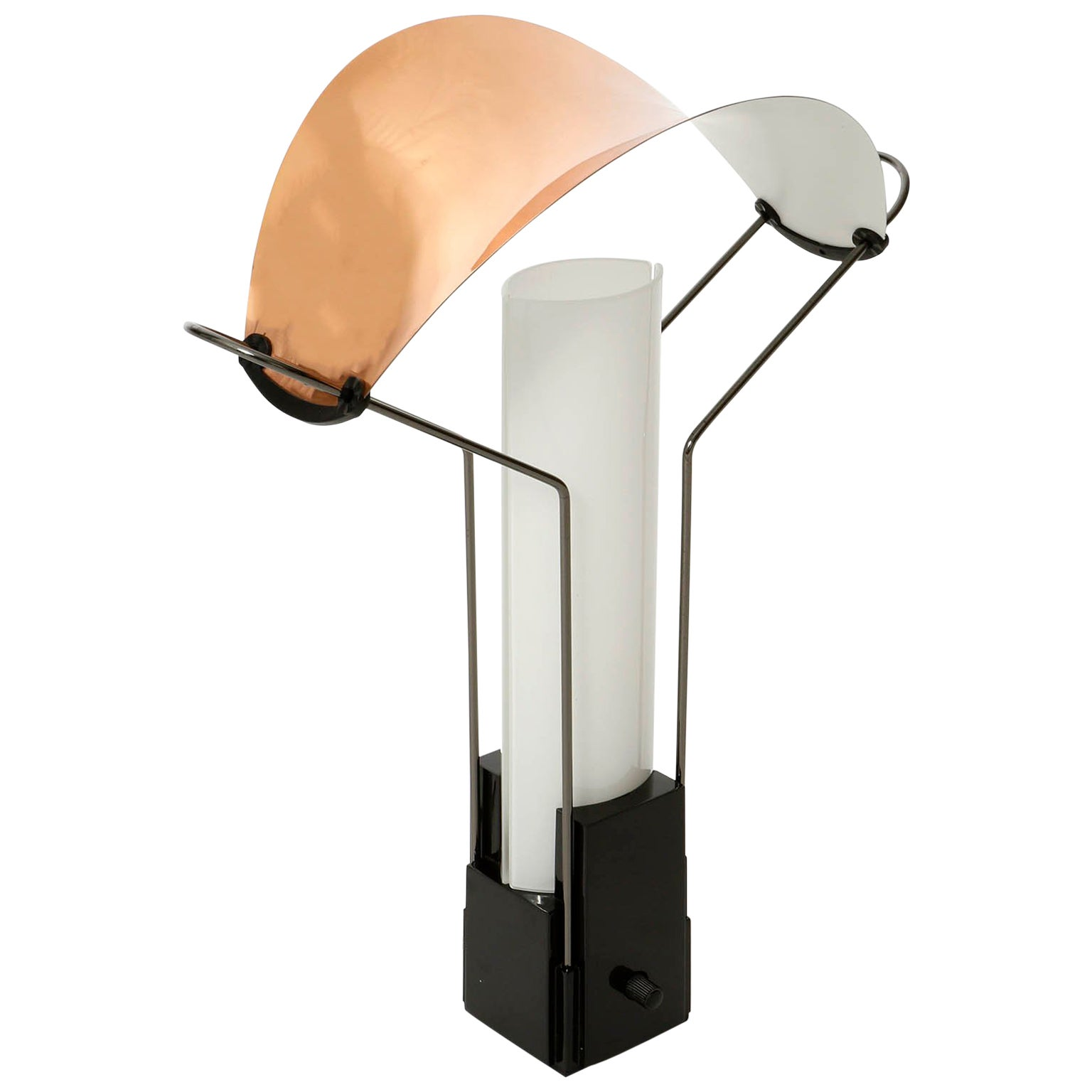 Table Lamp 'Palio' by Arteluce, Copper Opal Glass, Italy, 1985