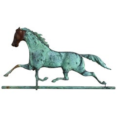19th Century Full Bodied Running Horse Weathervane Great Patina