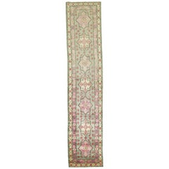 Vintage Khotan Runner in Pinks and Green