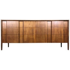 Designer 1950s Dresser by Barney Flagg for Drexel Parallel Line Refinished
